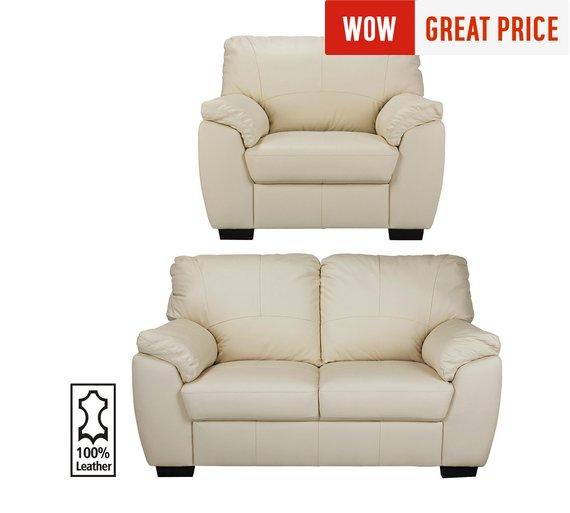 Buy Collection Milano Leather 2 Seater Sofa And Chair
