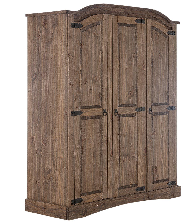 sale on argos home puerto rico 3 door wardrobe dark pine. Black Bedroom Furniture Sets. Home Design Ideas