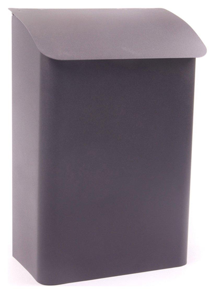 Image of House Nameplate Company Newspaper Box - Black.