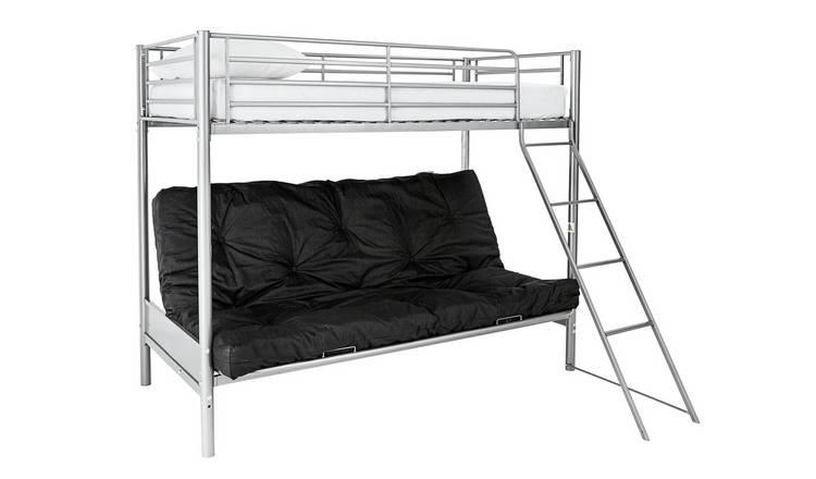 Buy Argos Home Metal Bunk Bed Black Futon Kids Mattress Kids Beds Argos
