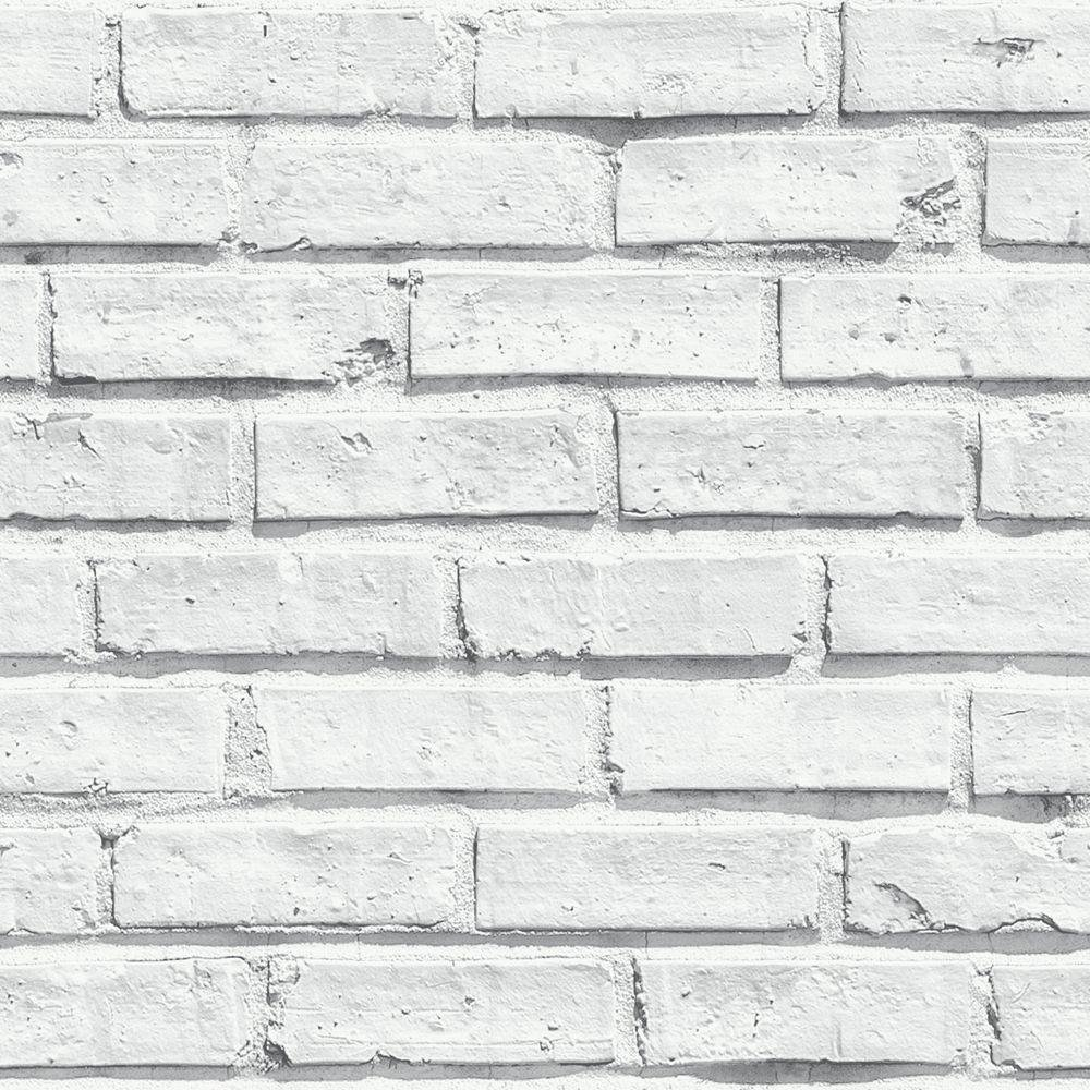 arthouse white brick wallpaper.