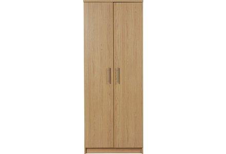 HOME Normandy 2 Door Wardrobe - Oak Effect