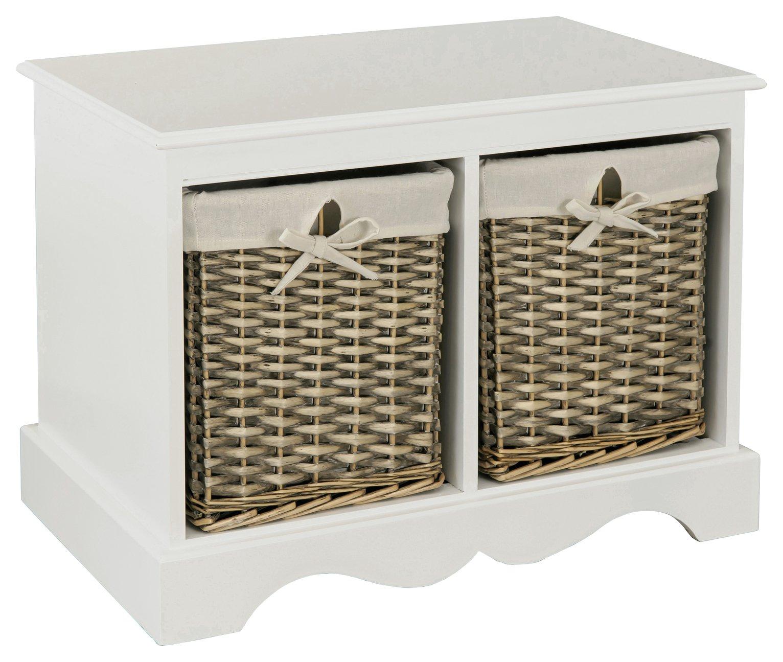 Argos Home New Malvern Hallway Shoe Storage Bench - White