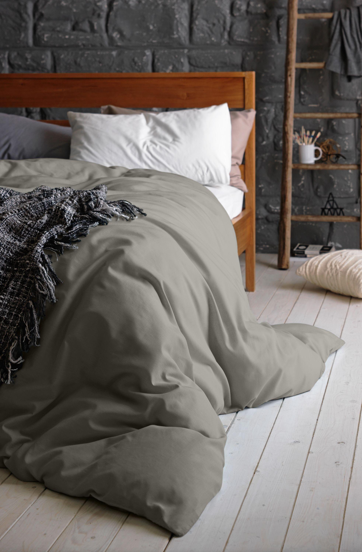 Argos Home 100% Cotton Dove Grey Bedding Set  - Double