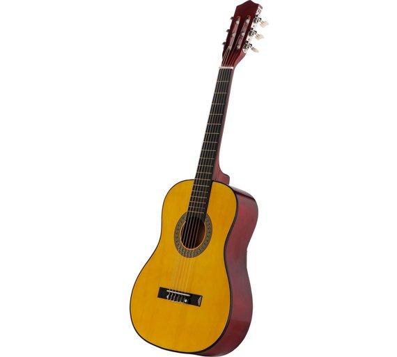 buy music alley junior classical acoustic guitar natural acoustic guitars argos. Black Bedroom Furniture Sets. Home Design Ideas