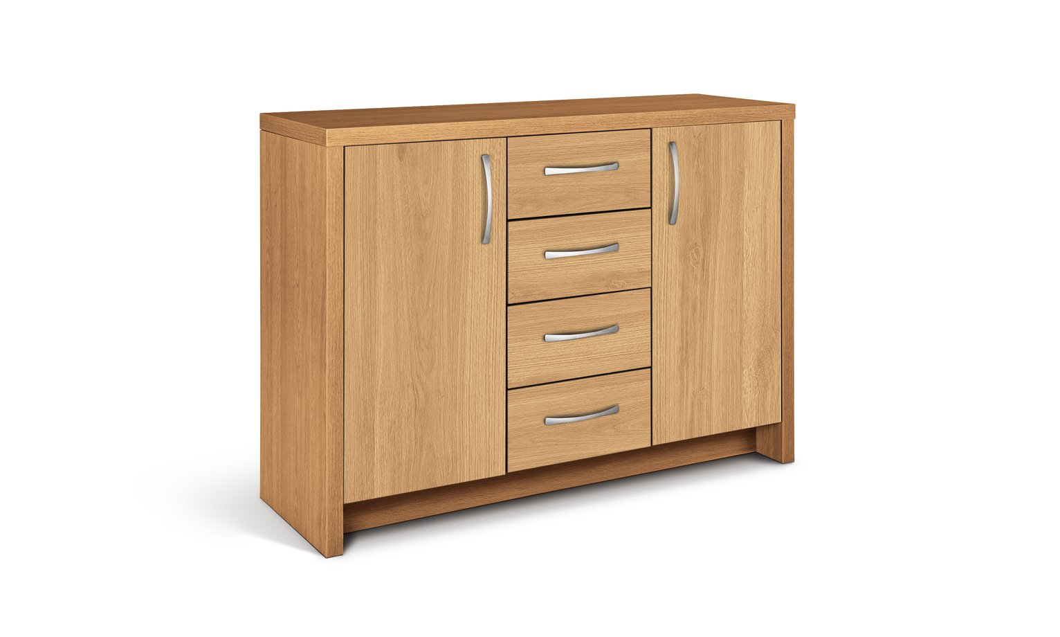 Argos Home Venice 2 Door 4 Drawer Sideboard - Oak Effect