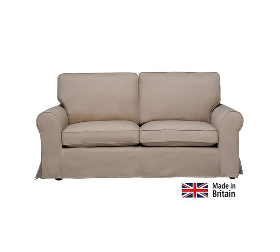 Buy home charlotte 3 seater fabric sofa with loose cover taupe at your online Buy home furniture online uk