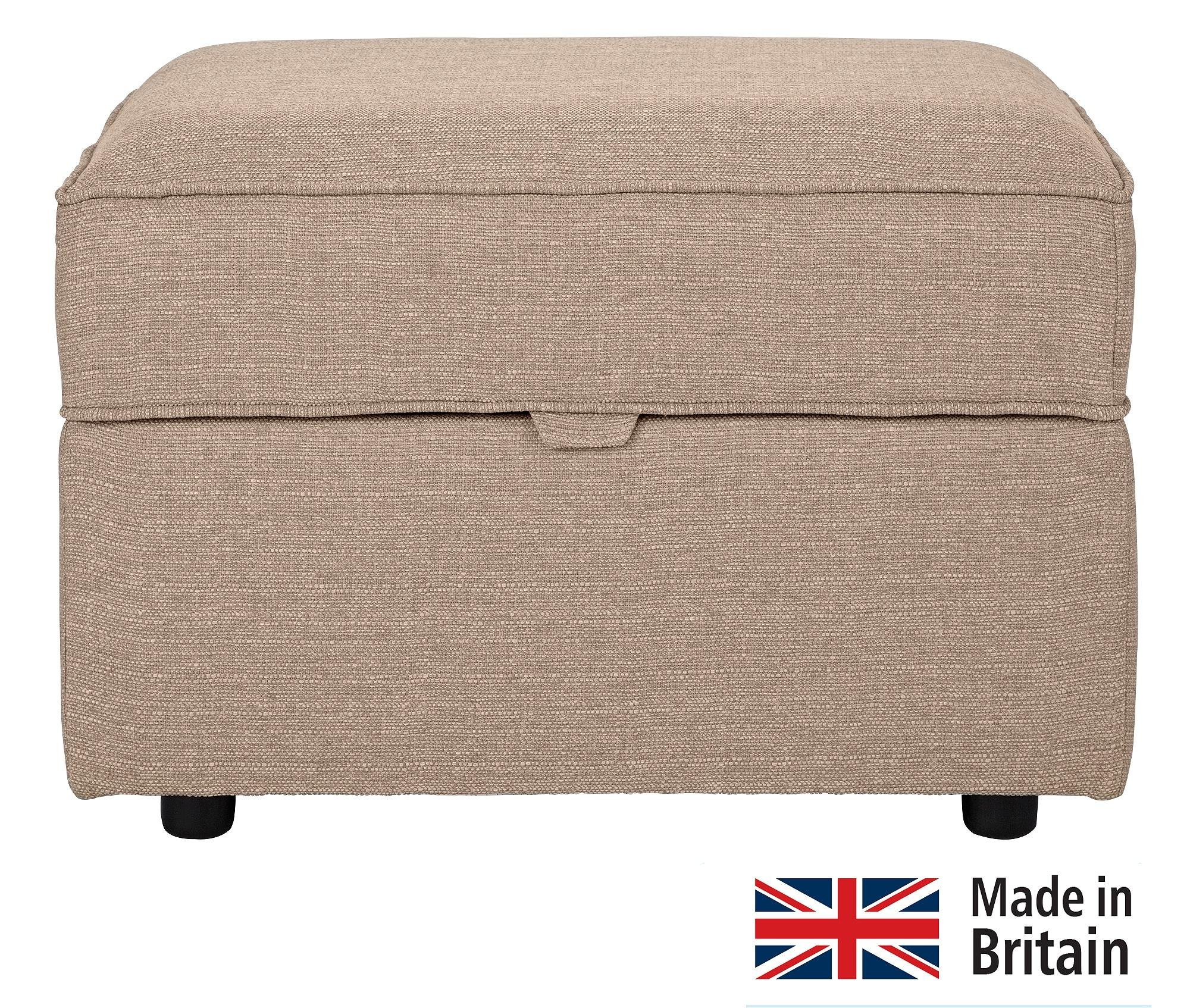 Collection Ashdown Fabric Storage Footstool   Taupe