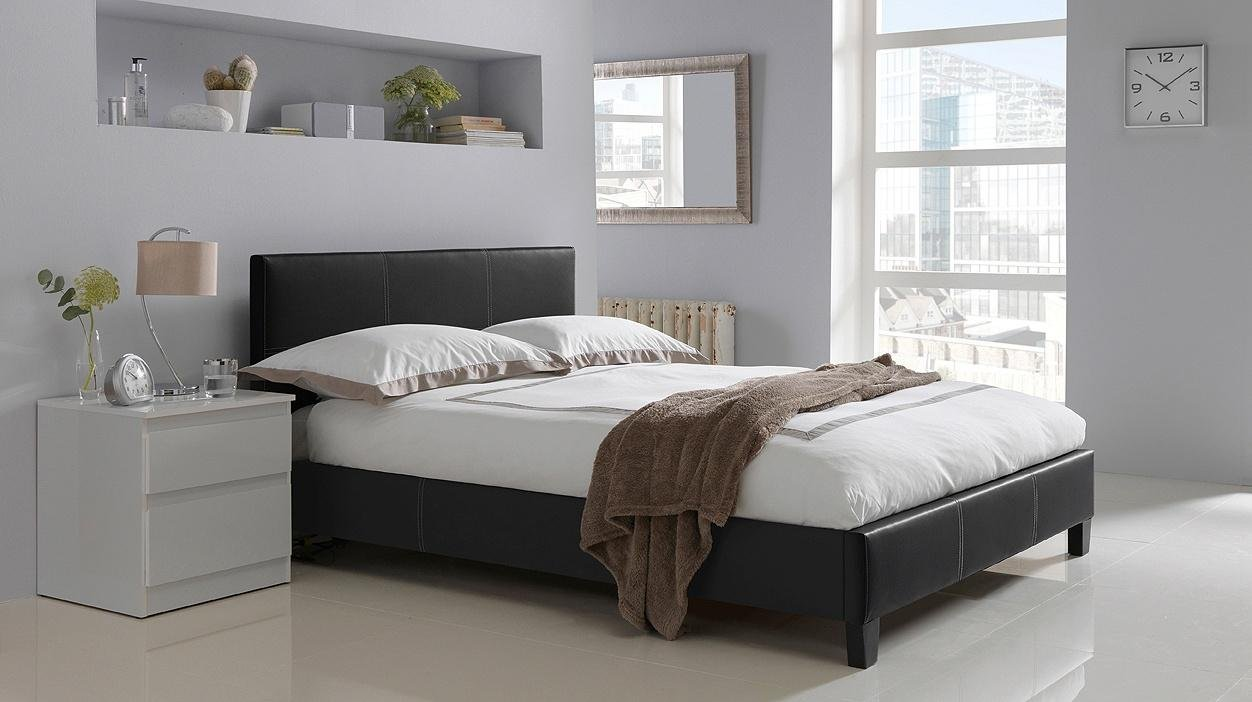 Buy HOME Constance Double Bed Frame Black at Argoscouk Your