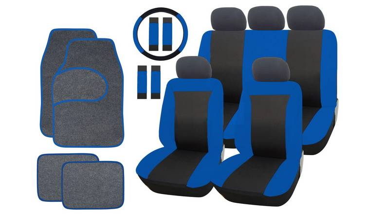 Phenomenal Buy Streetwize Car Seat Cover And Mat Bundle Set Black Blue Car Seat Covers Argos Pdpeps Interior Chair Design Pdpepsorg