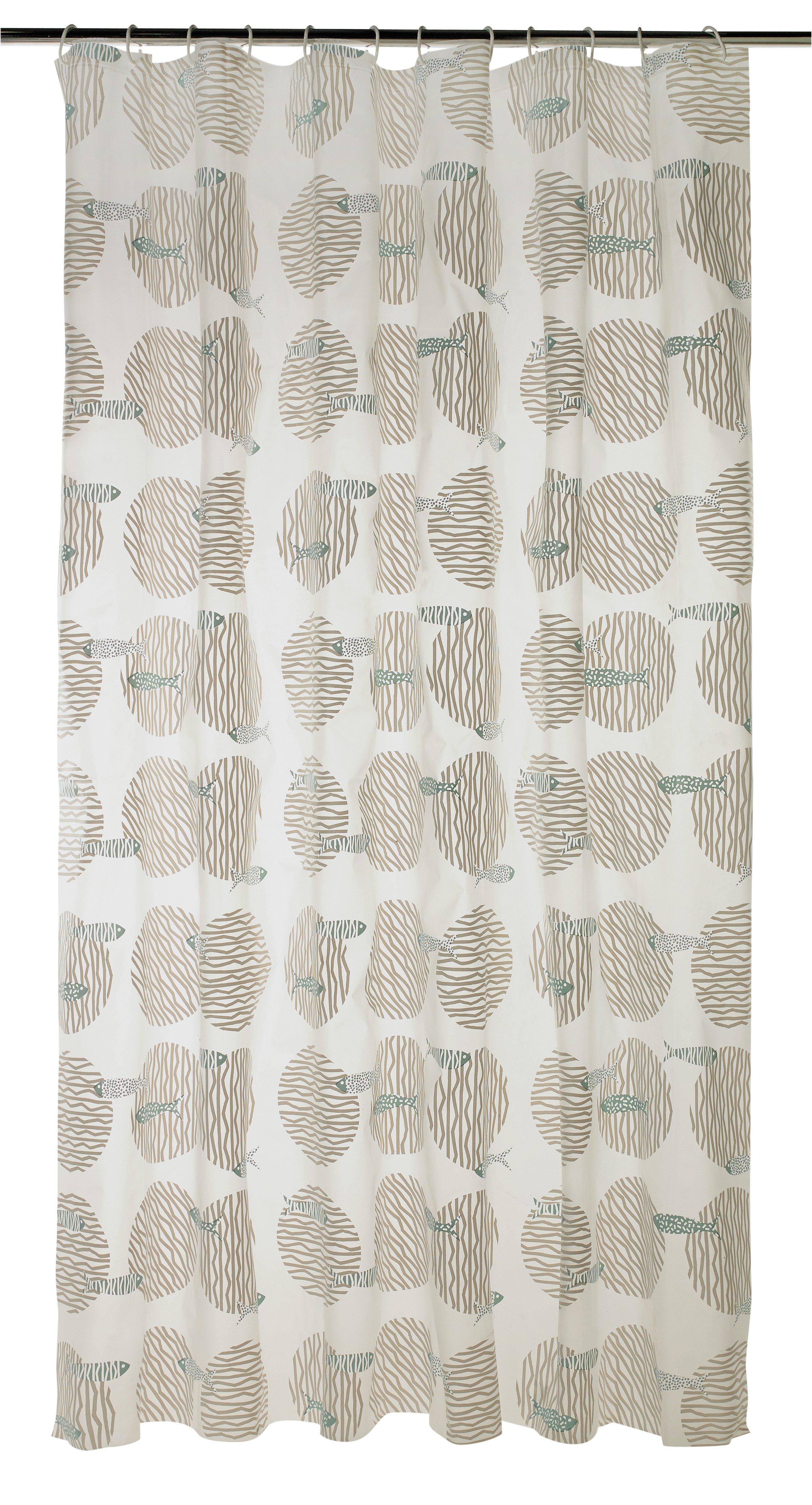 habitat fish shower curtain grey u0026 blue