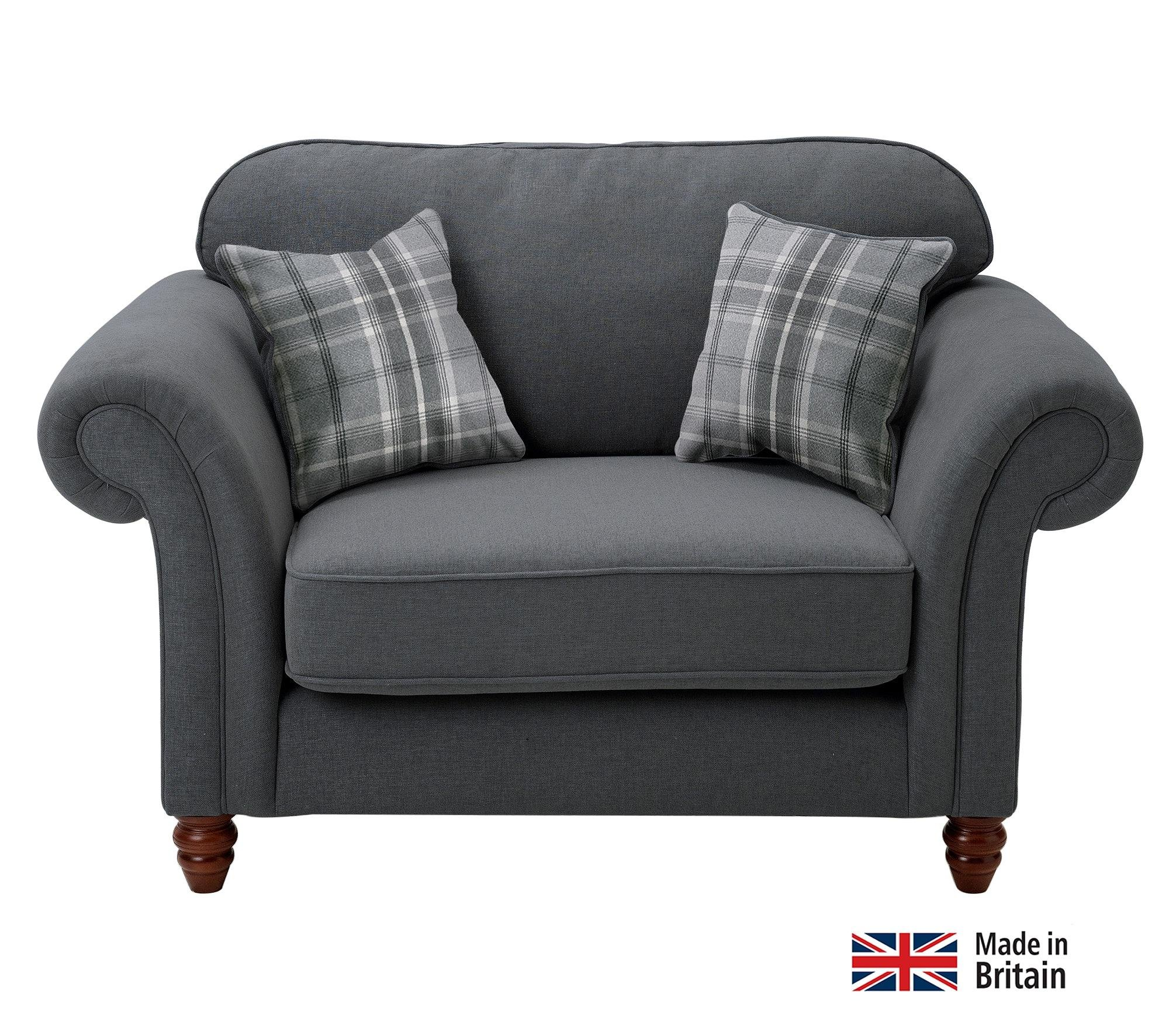 Heart Of House Windsor 2 Seater Cuddle Chair   Charcoal