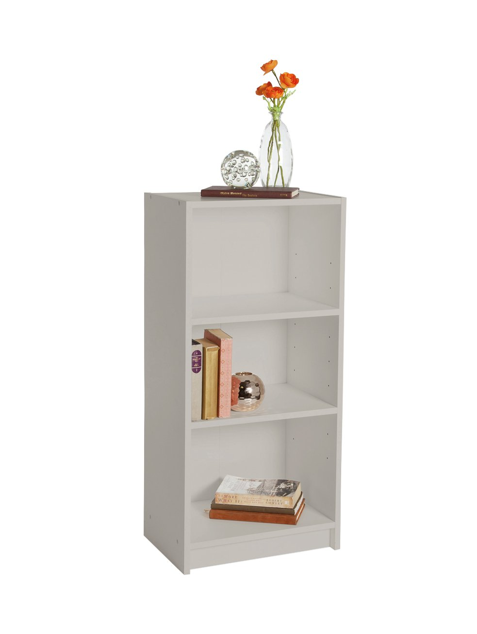 Argos Home Maine 2 Shelf Half Width Bookcase - Grey