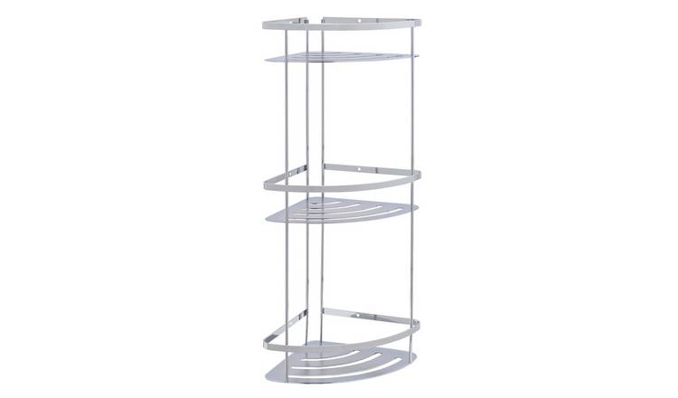 Argos Home Flat Plate 3 Tier Bathroom Corner Caddy