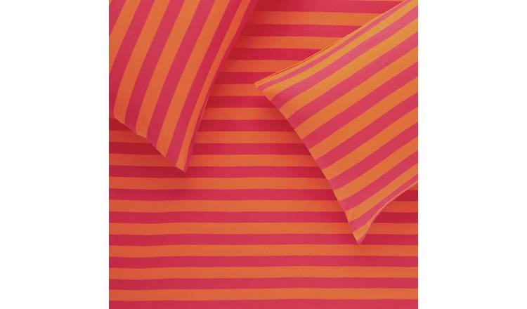 Habitat Jersey Pink and Orange Bedding Set - Single
