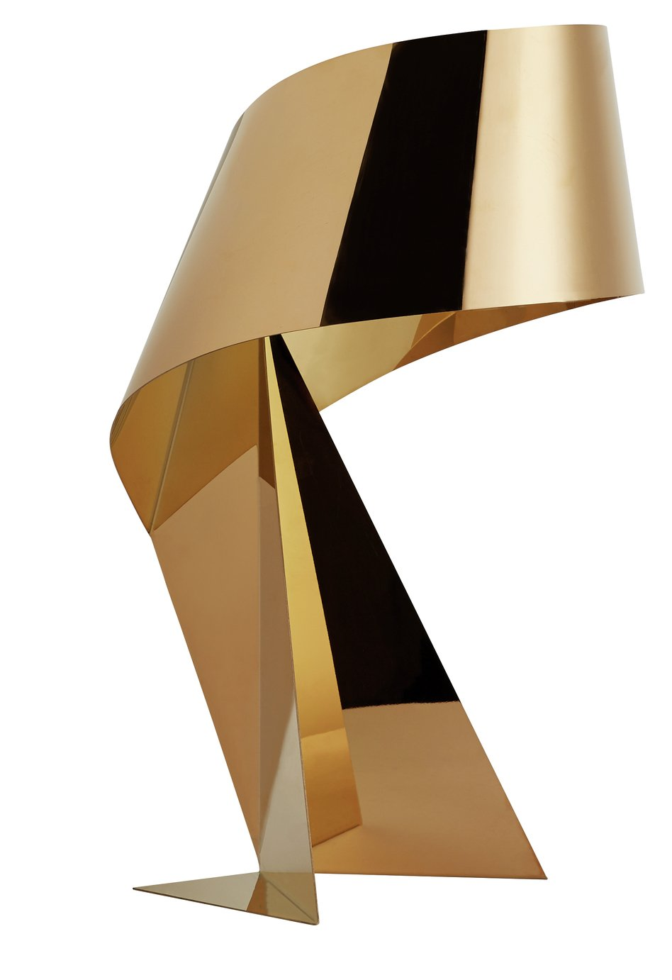 Habitat Large Ribbon Table Lamp - Gold