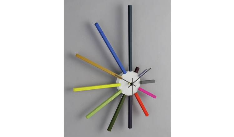 Habitat Spectrum Wall Clock - Multicoloured