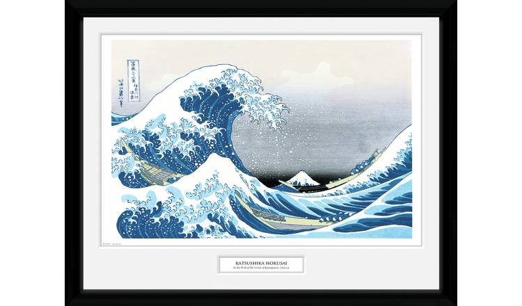 Japanese Art Hokusai Great Wave Framed Print Wall Art