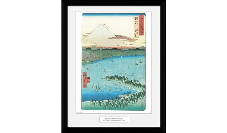 Japanese Art Hiroshige The Pine Beach Framed Print Wall Art