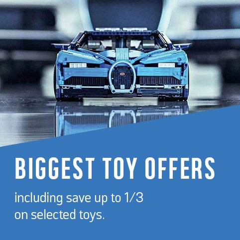 Biggest toy offers including save up to 1/3 on selected toys.