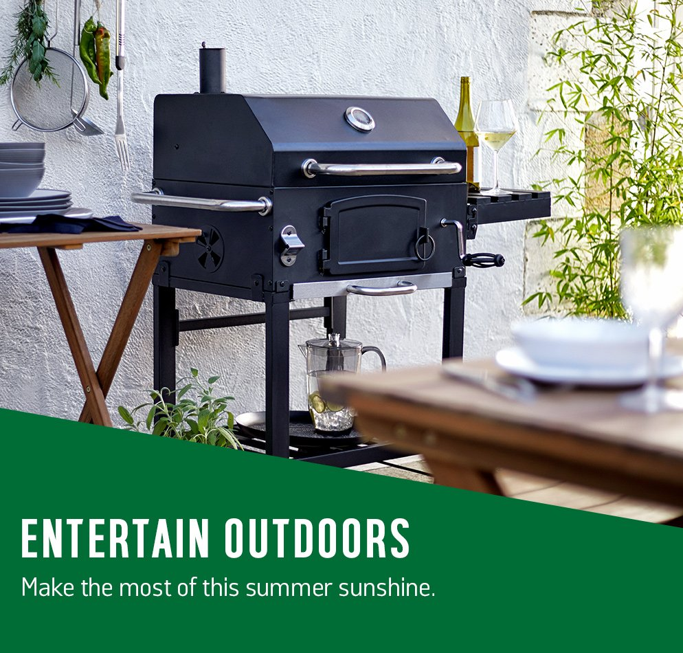 Entertain outdoors. Make the most of this summer sunshine.