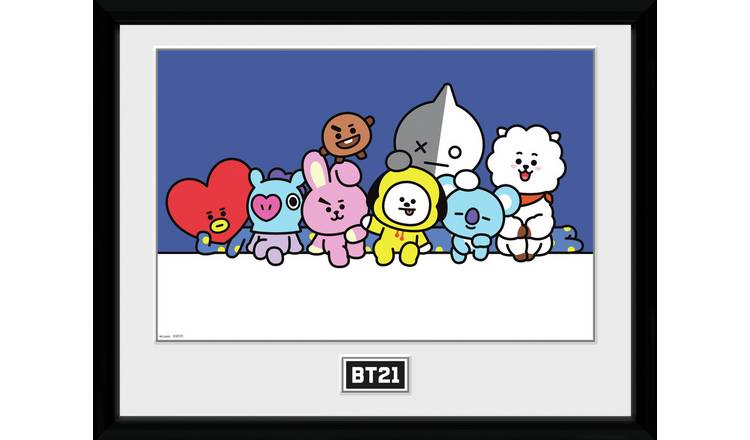 BT21 Group Framed Print Wall Art