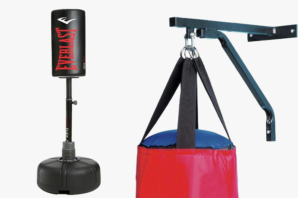 Home punching bag.