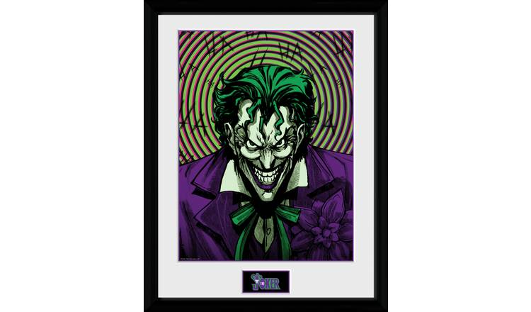 DC Comics Joker Insane Framed Print Wall Art