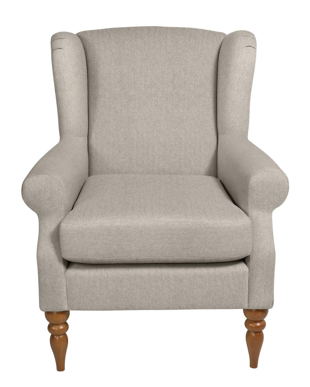 Argos Home Bude Fabric Wingback Chair - Cream