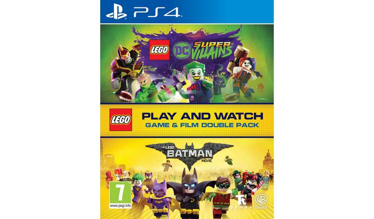LEGO DC Villains PS4 Game & LEGO Batman Movie Double Pack