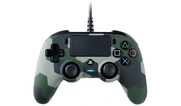 Nacon Compact PS4 Wired Controller - Green Camo