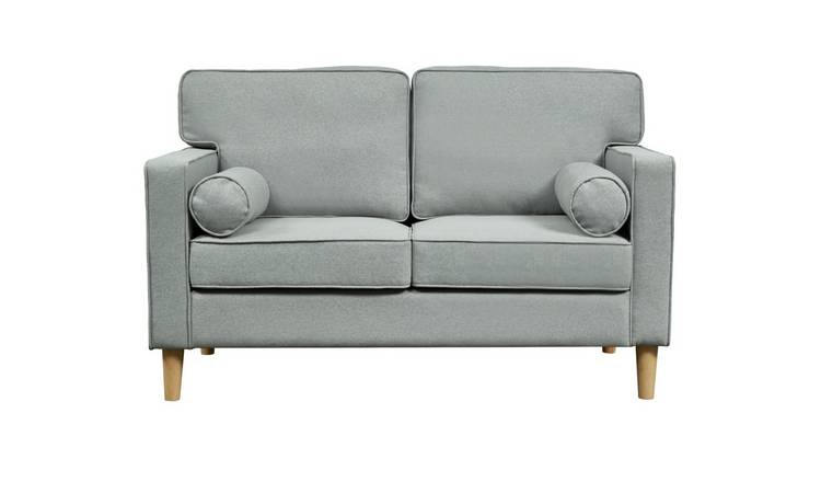 Argos Home Christopher 2 Seater Fabric Sofa - Grey