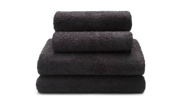 Argos Home 4 Piece Towel Bale - Black