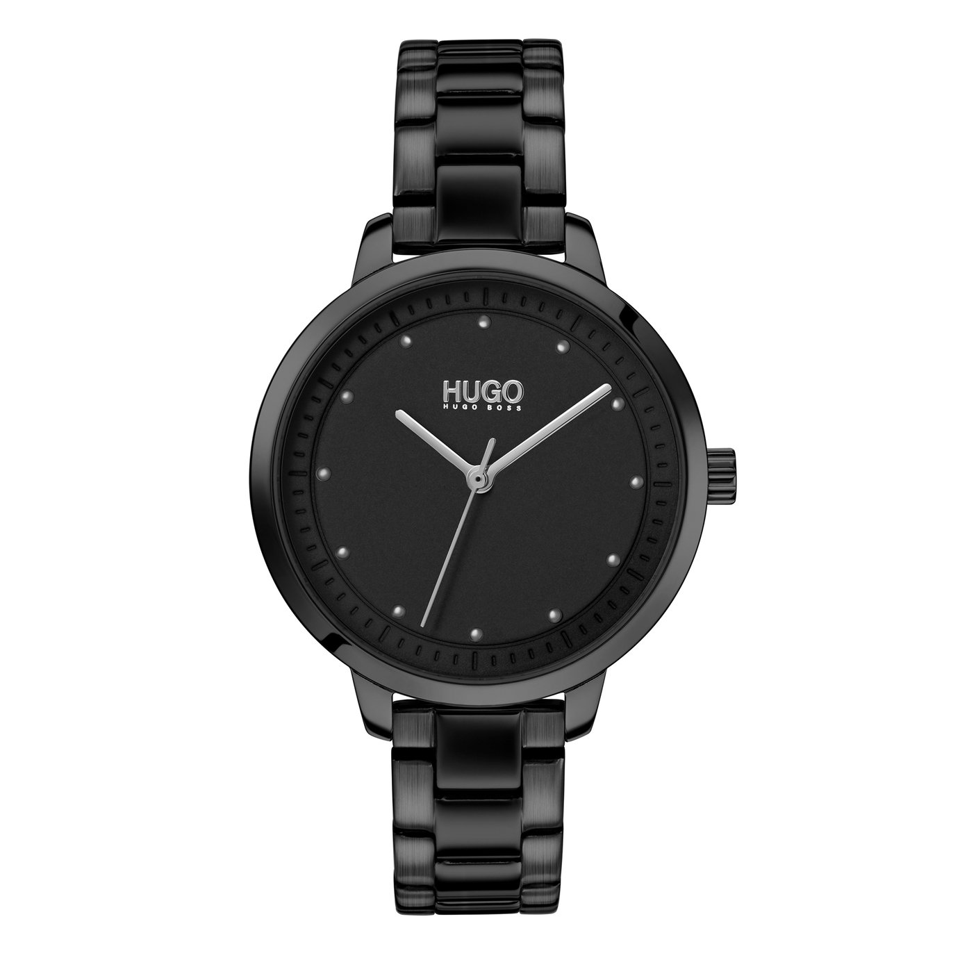 HUGO Ladies Achieve Black Stainless Steel Bracelet Watch