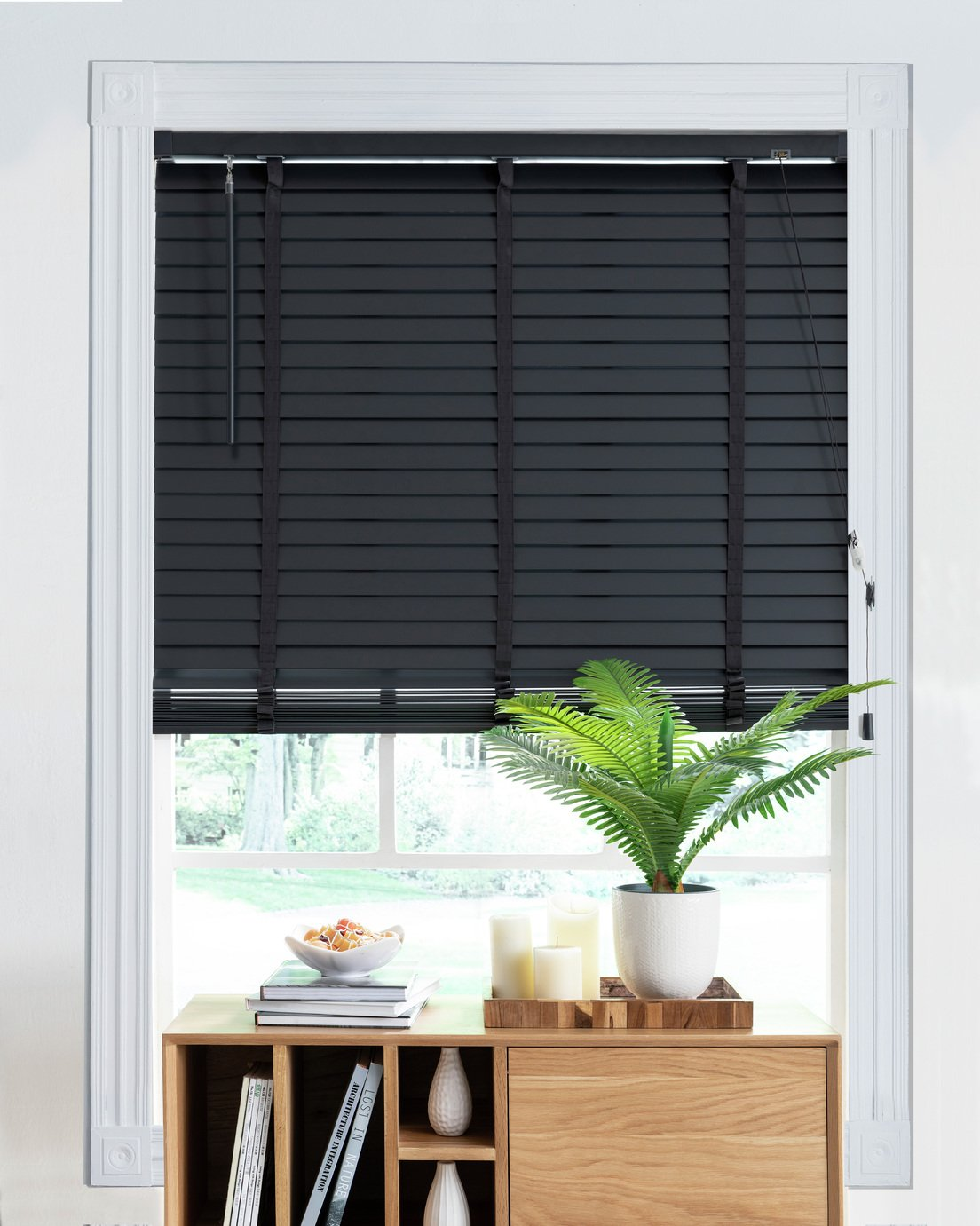 Little Black Book 50mm Venetian Wood Blind - Slate Grey
