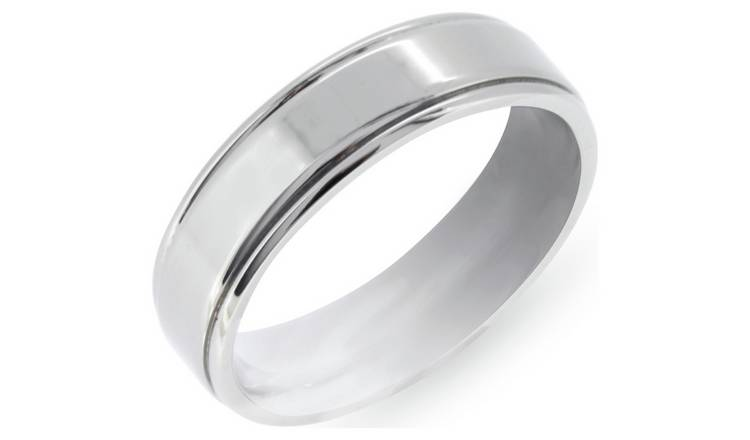 Revere Mens Titanium Brushed Ring Boxed - X