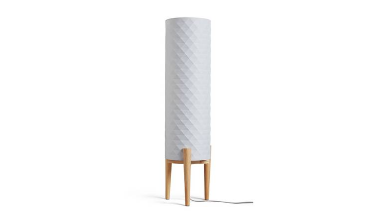 Argos Home Skandi Geometric Column Floor Lamp - Grey