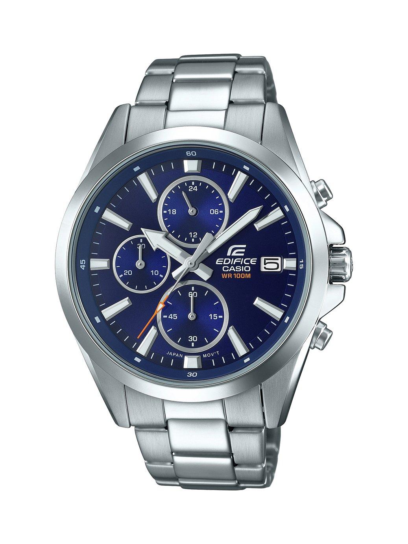 Casio Men's Edifice Chronograph Silver Bracelet Watch