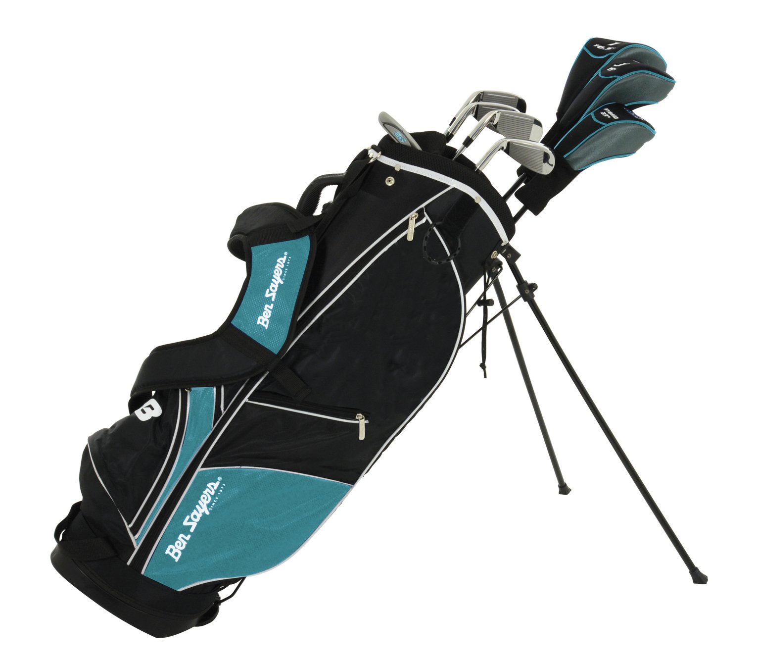 Ben Sayers M8 8 Gold Club Set and Stand Bag - Turquoise