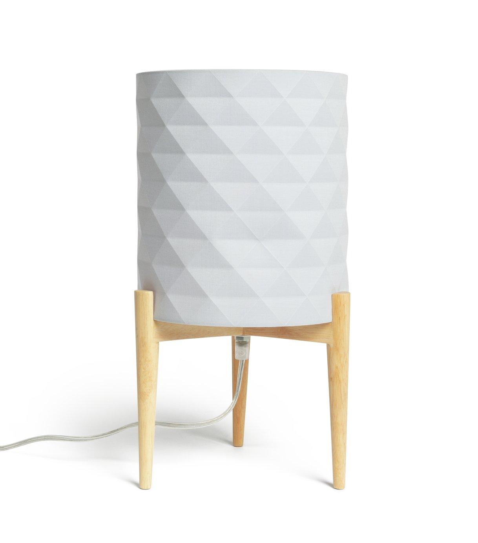 Argos Home Skandi Geometric Column Table Lamp - Grey