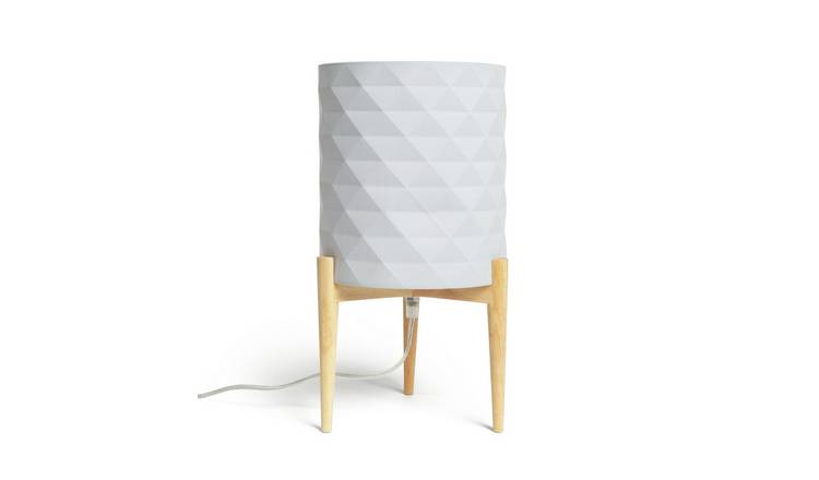 Argos Home Skandi Geometric Column Table Lamp - Grey