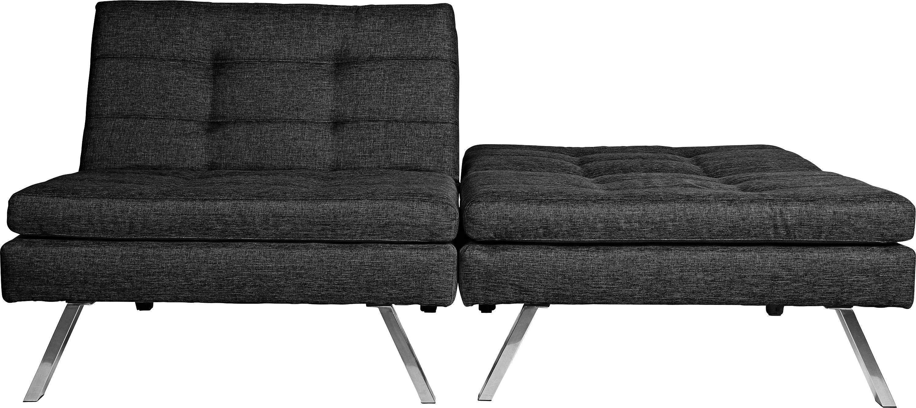 Argos Home Duo 2 Seater Clic Clac Sofa Bed - Charcoal