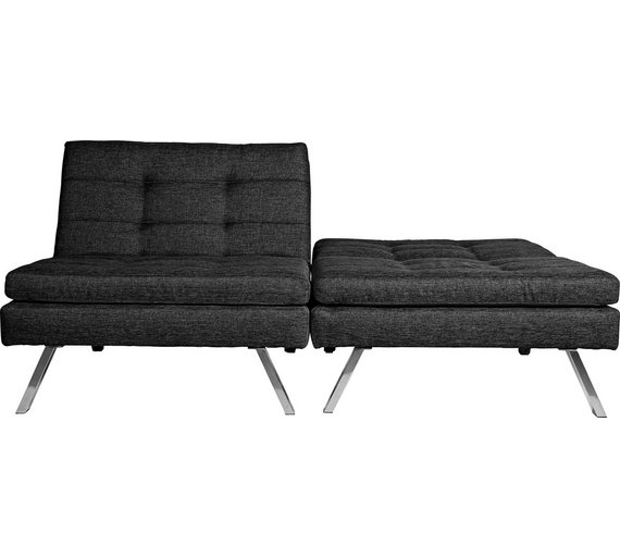 Buy Hygena Duo 2 Seater Clic Clac Sofa Bed - Charcoal | Sofa beds ...