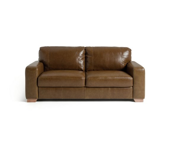 Milano Red Leather Sofa