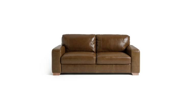 Super Buy Argos Home Eton 3 Seater Leather Sofa Tan Sofas Argos Dailytribune Chair Design For Home Dailytribuneorg