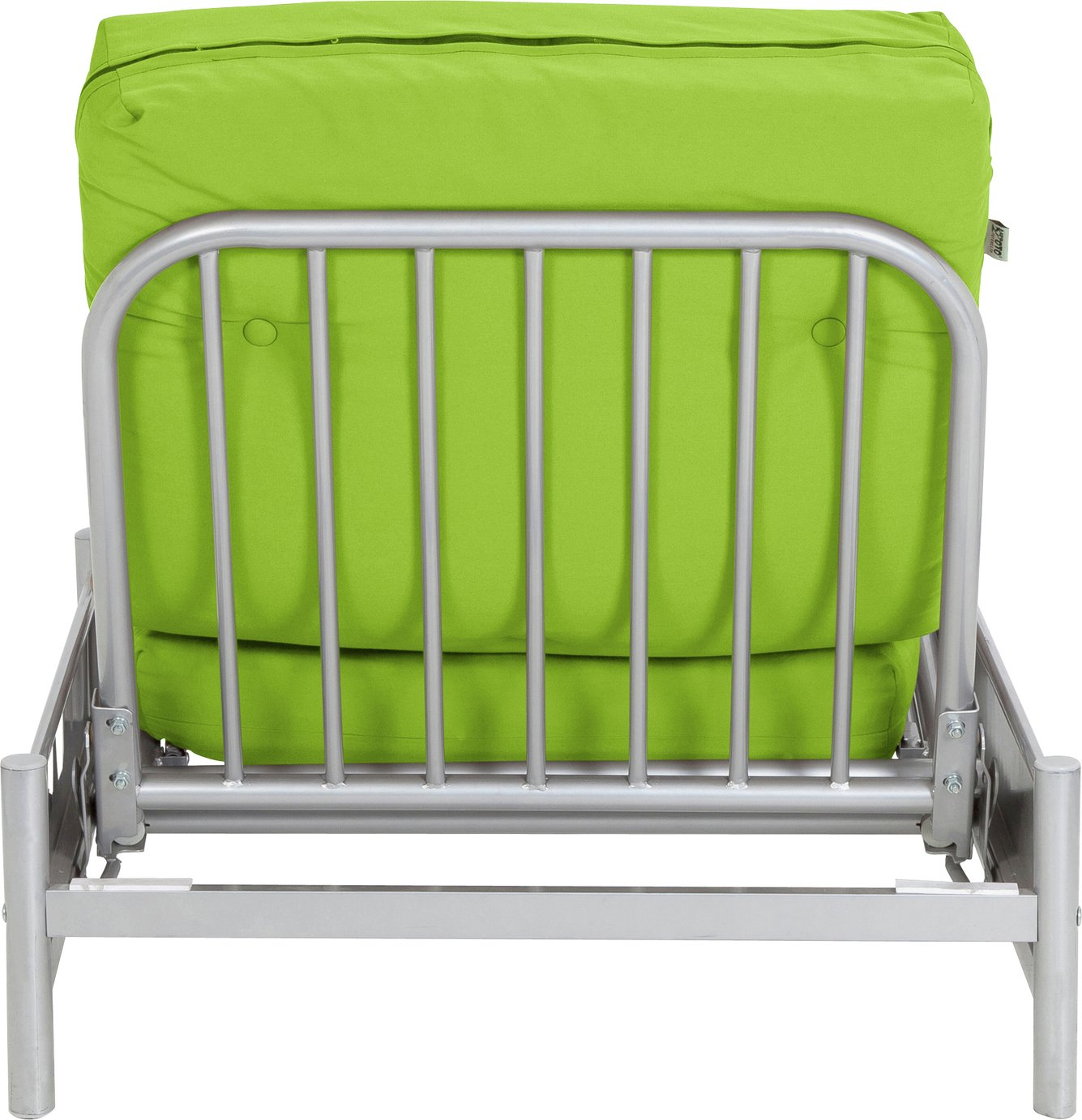 HOME Single Futon Metal Sofa Bed With Mattress   Green