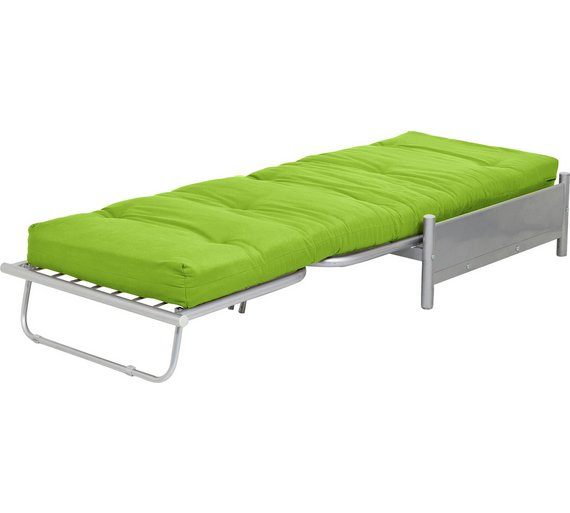 buy home single futon metal sofa bed with mattress green sofa beds chairbeds and futons argos. Black Bedroom Furniture Sets. Home Design Ideas