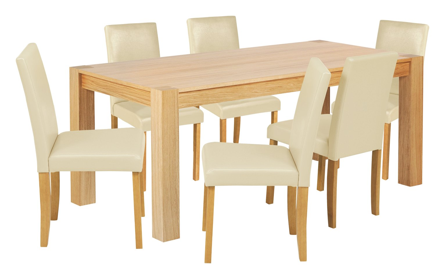 Collection Indiana 180cm Oak Table amp 6 Chairs Cream : 3436389RZ001A from cheapas.co.uk size 1532 x 962 jpeg 111kB