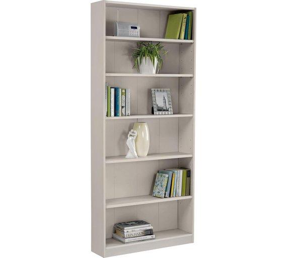 clovelly p en bookcase large uk grey wilko