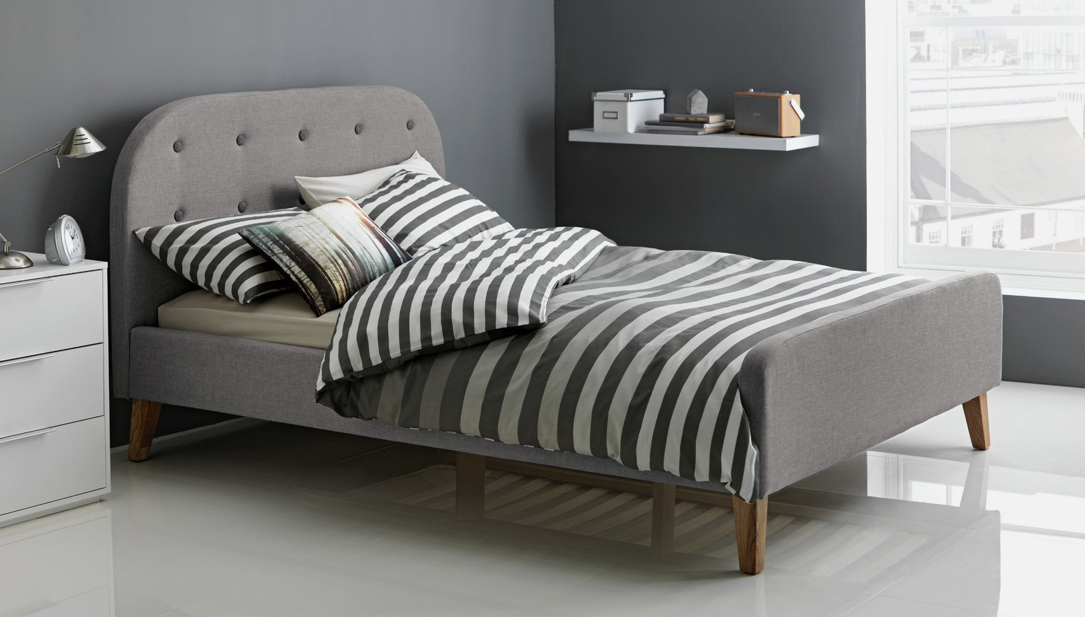 Buy Hygena Ashby Double Bed Frame Grey at Argoscouk Your